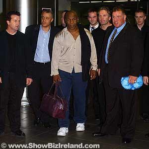 Showbiz ireland mike tyson mania comes to ireland photos mike tyson joe egan dublin airport m4hsunfo